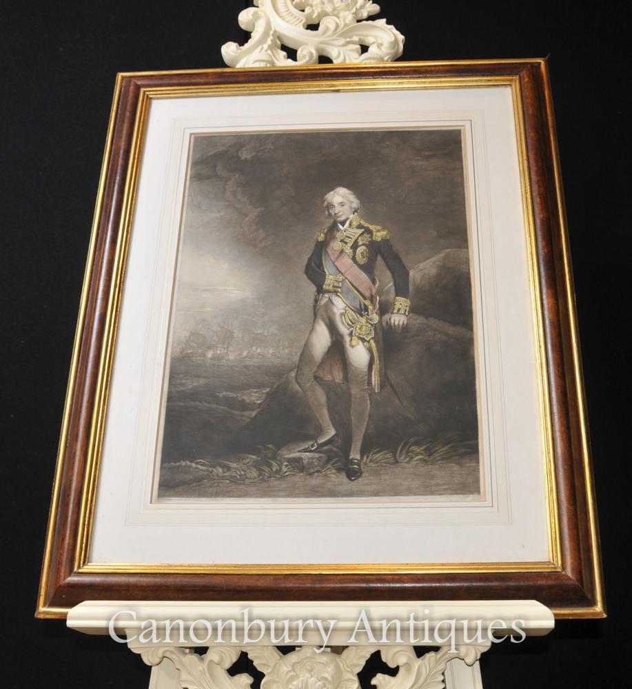 Früher Druck Admiral Horatio Lord Nelson Britische königliche Marine