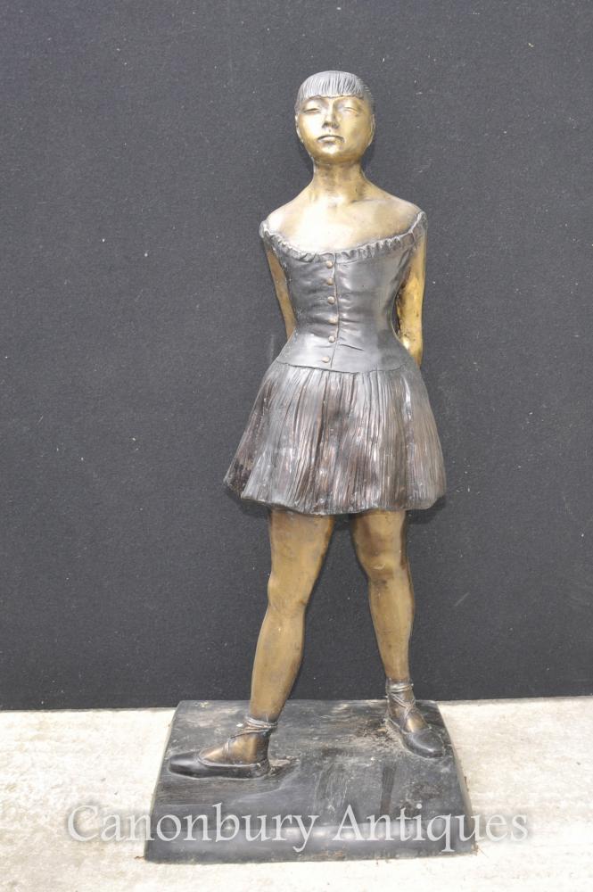 Französisch Bronze Balletttänzer Statue Degas Ballerina Skulptur