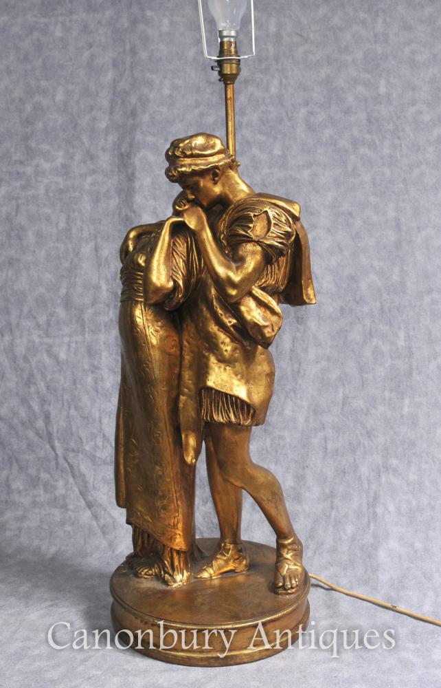 Französisch Giltwood Tischlampe The Lovers Kiss