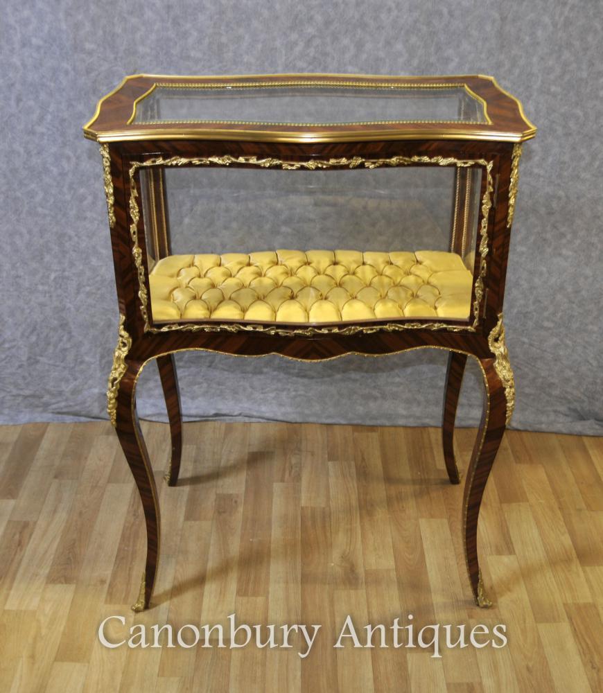 Französisches Empire Display Cabinet Schmuckkoffer Bijouterie