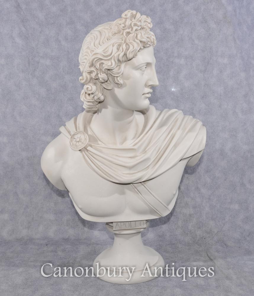 Klassische italienische Steinbüste Apollo griechischer Gott