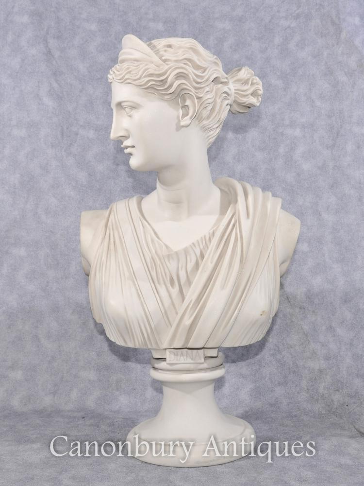 Klassische italienische Steinbüste Diana die Hunter-Statue-Skulptur