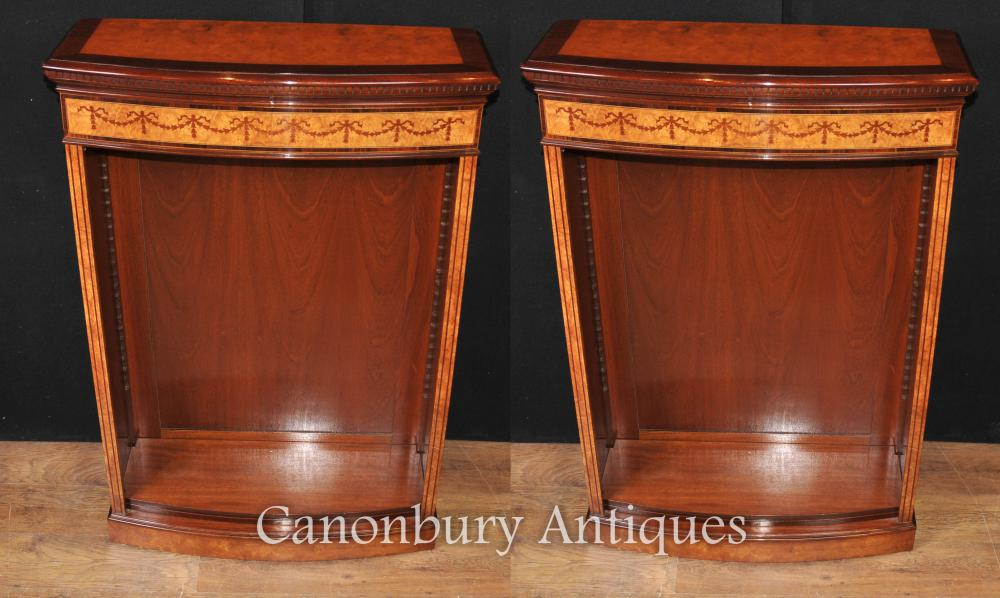 Pair Regency vorne offen Regale Sainwood Walnut