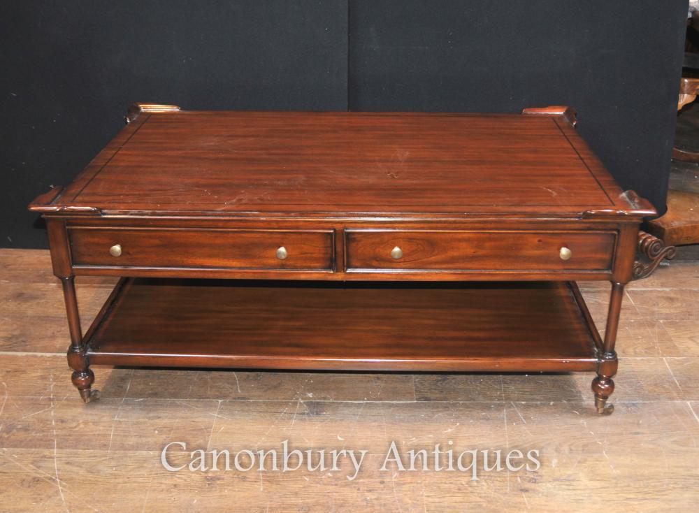 Regency Couchtisch in Mahagoni English Möbel Tische