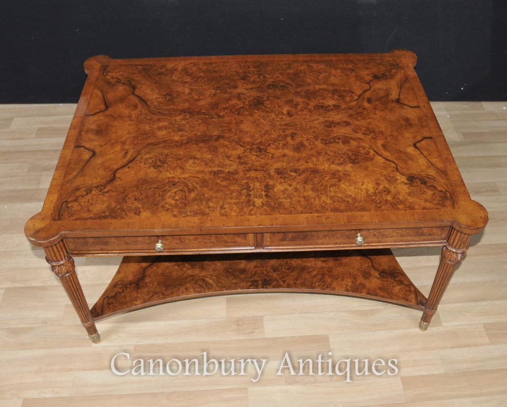 Regency Walnut Couchtisch Partner Tische Englische Möbel