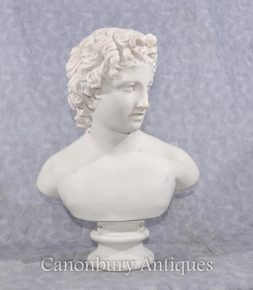 Steinbüste Junge David Klassische Skulptur Statue