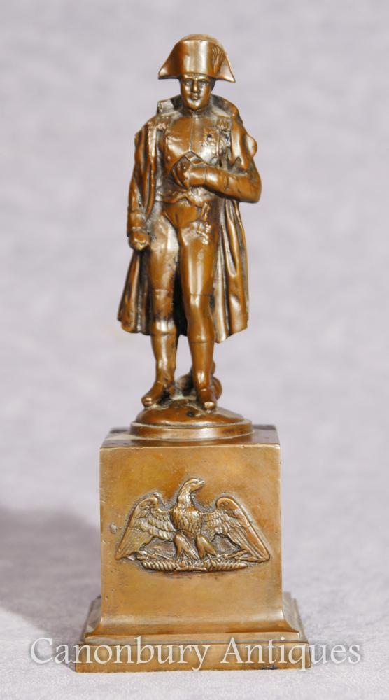 Antike Bronze-Statue Kaiser Napoleon Bonaparte Große Tour 1900