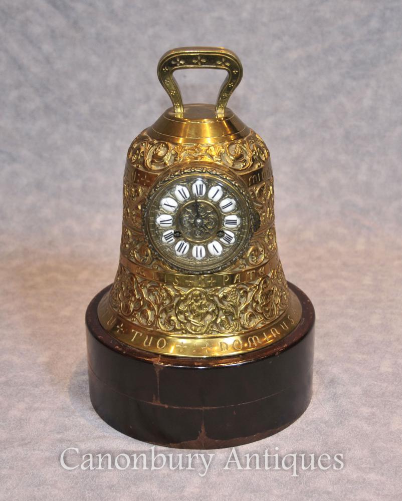 Antike Französisch Messing Bell Französisch Chiming Uhren 19. Jahrhundert