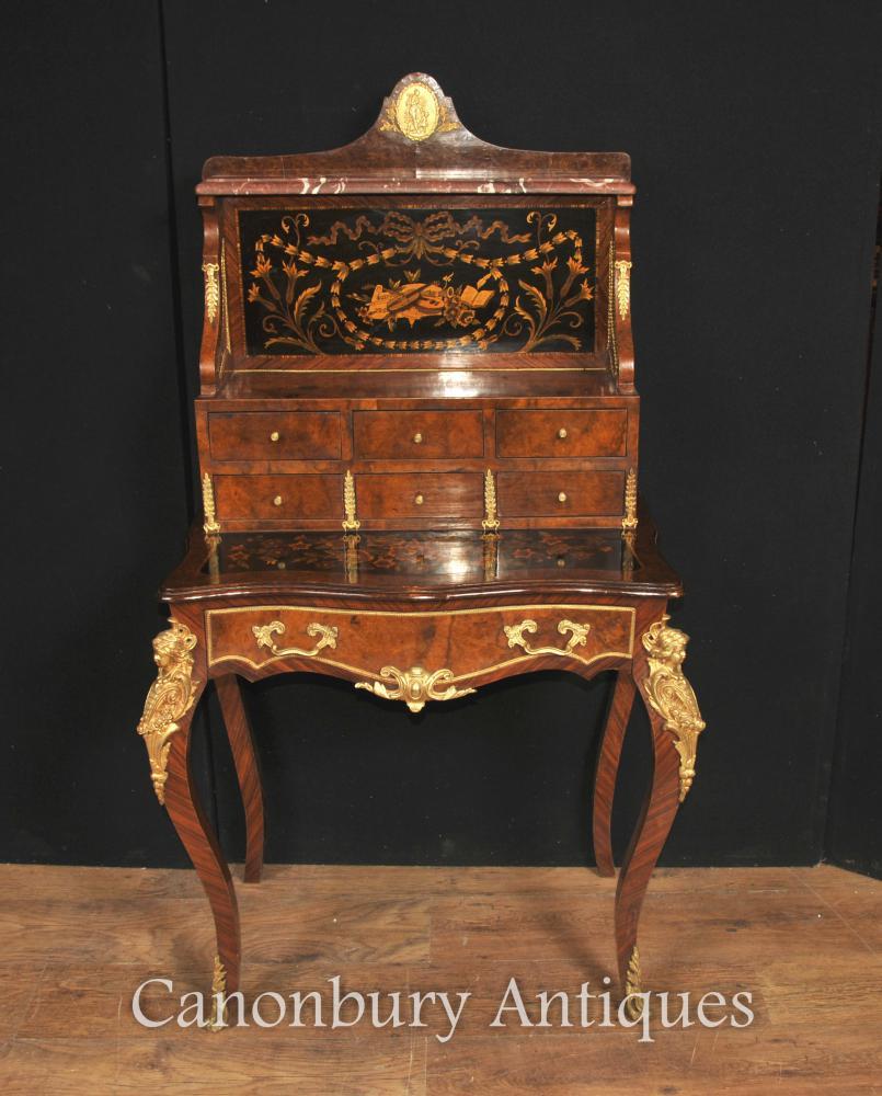 Antique Französisches Reich Bonheur Du Jour Schreibtisch Schreibtisch Bureau Inlay
