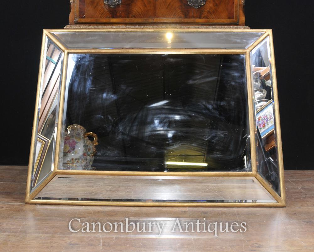 Art Deco Glasmantel Spiegel Gilt Frame