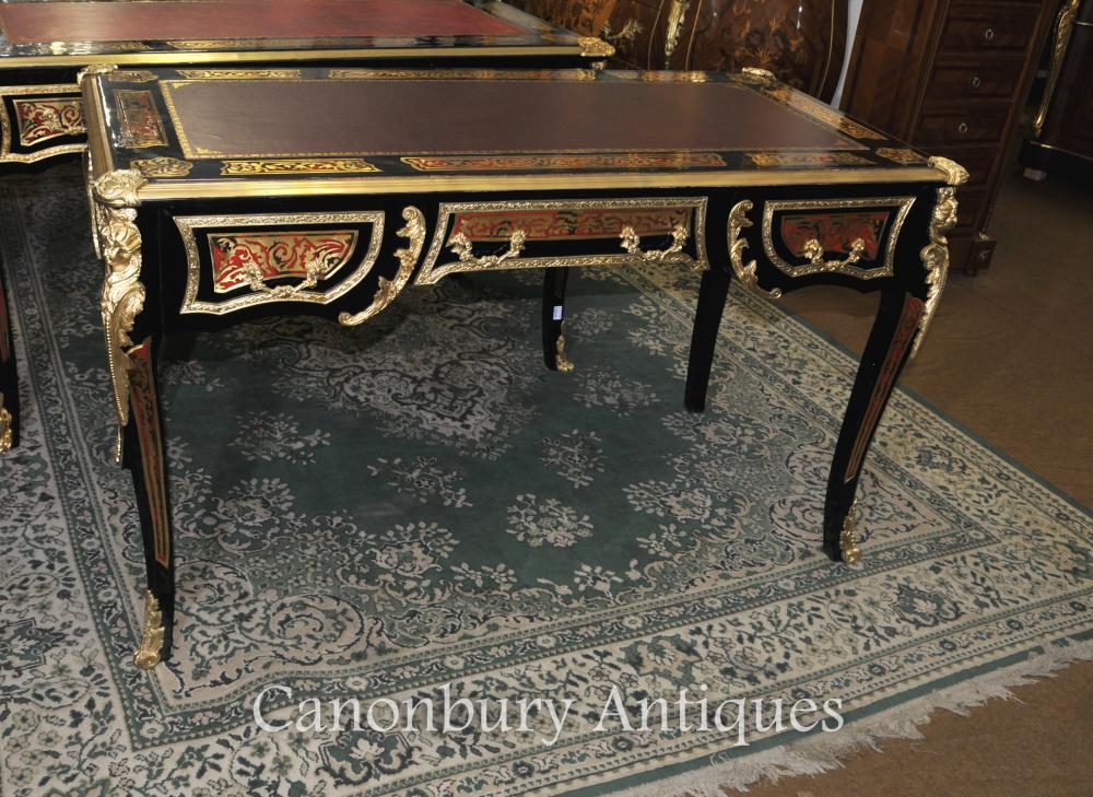 Boulle Schreibtisch-Schreibtisch Buhl Inlay French Bureau Plat