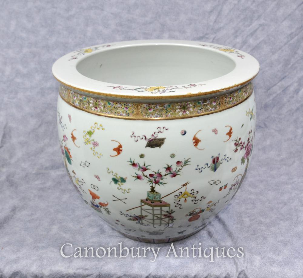 Chinesische Qianlong Porzellan-Pflanzer-Schüssel handgemalte Keramik