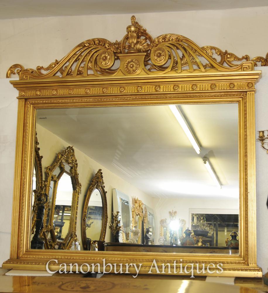 Englisch Adams Gilt Mantle Spiegel Glas Spiegel