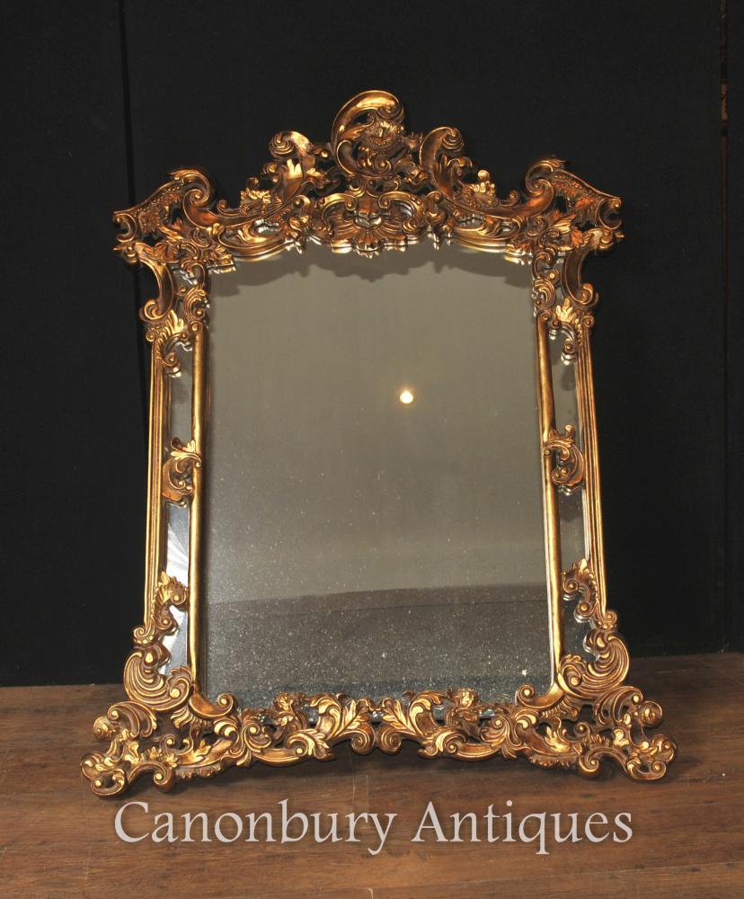 Englisch Gilt Chippendale Mantel Spiegel Rococo Rahmen Glas