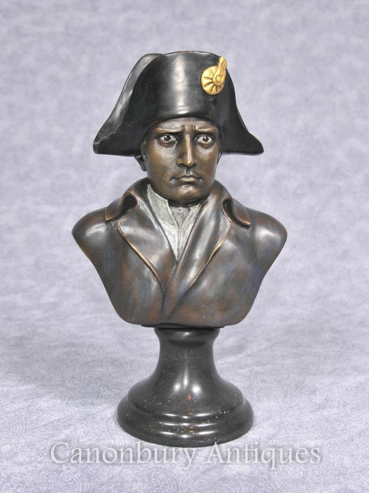 Francès Bronze Bust de l'emperador Napoleó I Bonaparte Militar