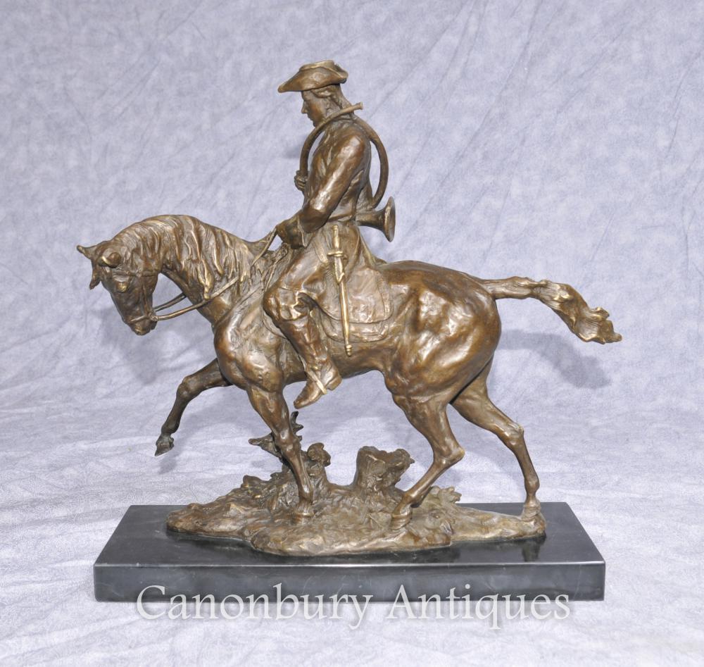 Francès bronze Hunter Horse càsting Escultura Huntsman cavall