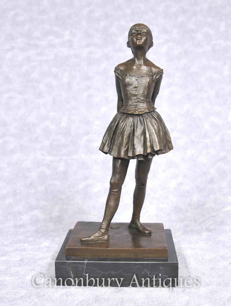Französisch Bronze Ballett-Tänzer-Statue von Degas Ballerina