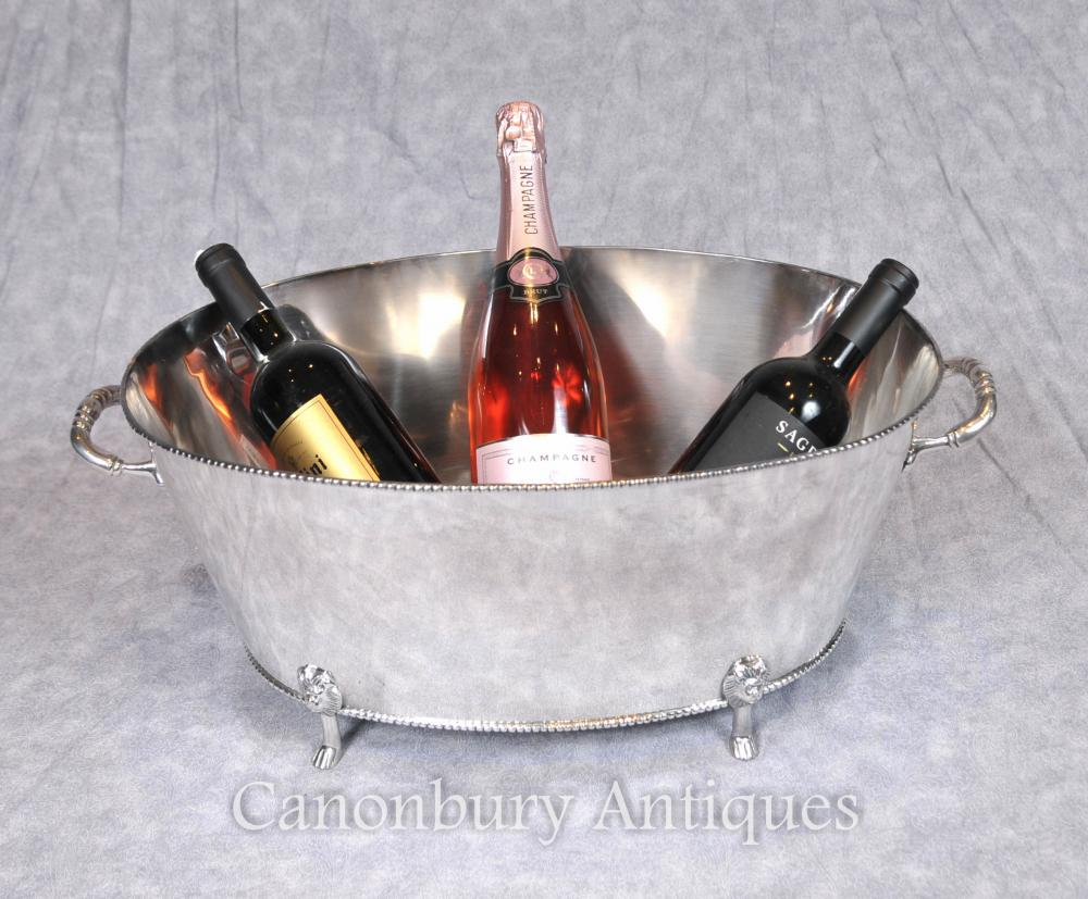 George III Silber Platte Weinkühler Eimer Champagner Pflanzer