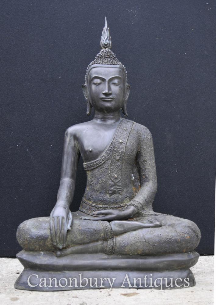 Große Bronzen-tibetanische Buddha-Statue-buddhistische Kunst Meditieren Dhyanasana