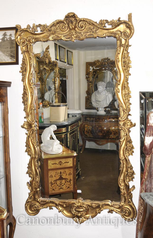Italienische Rococo Gilt Pier Spiegel Glas Frames Spiegel