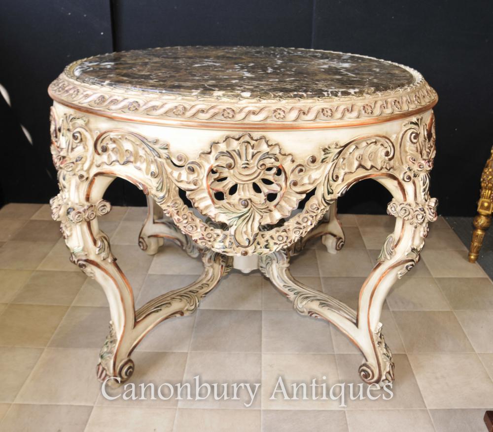 Louis XVI gemaltes runde Mitte-Speisen-Tabellen-Mitte