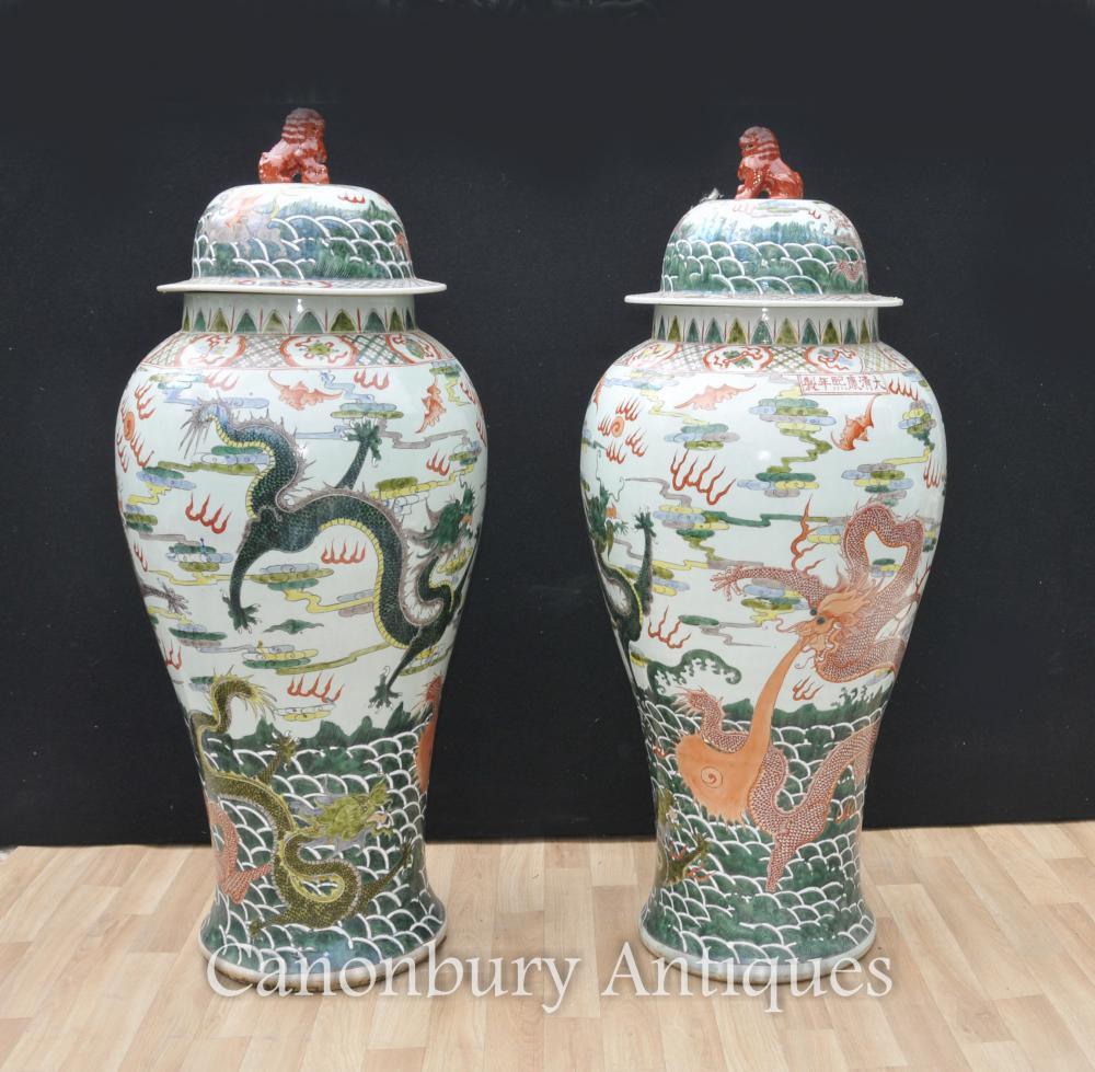 paar-chinesische-qing-porzellan-ingwer-glaser-vasen-drache-tonwaren