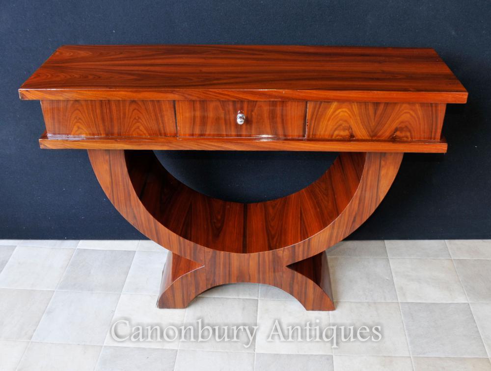 Palisander Art Deco Konsolentisch Ogee Gekrümmte Tische