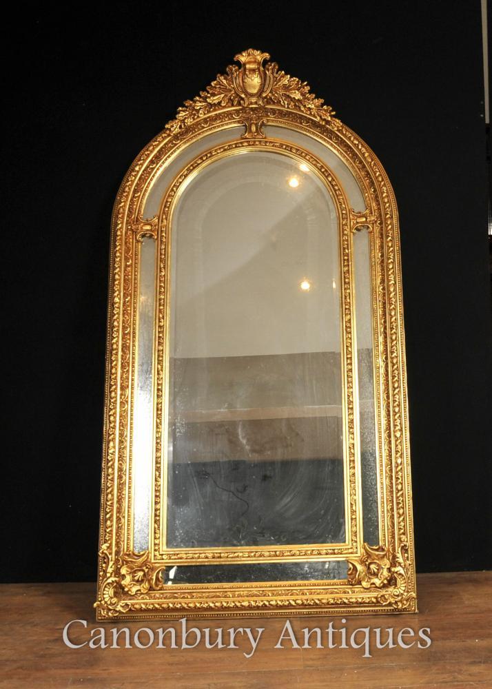 Tall Regency Gilt Pier Mirror Englisch Glas Spiegel