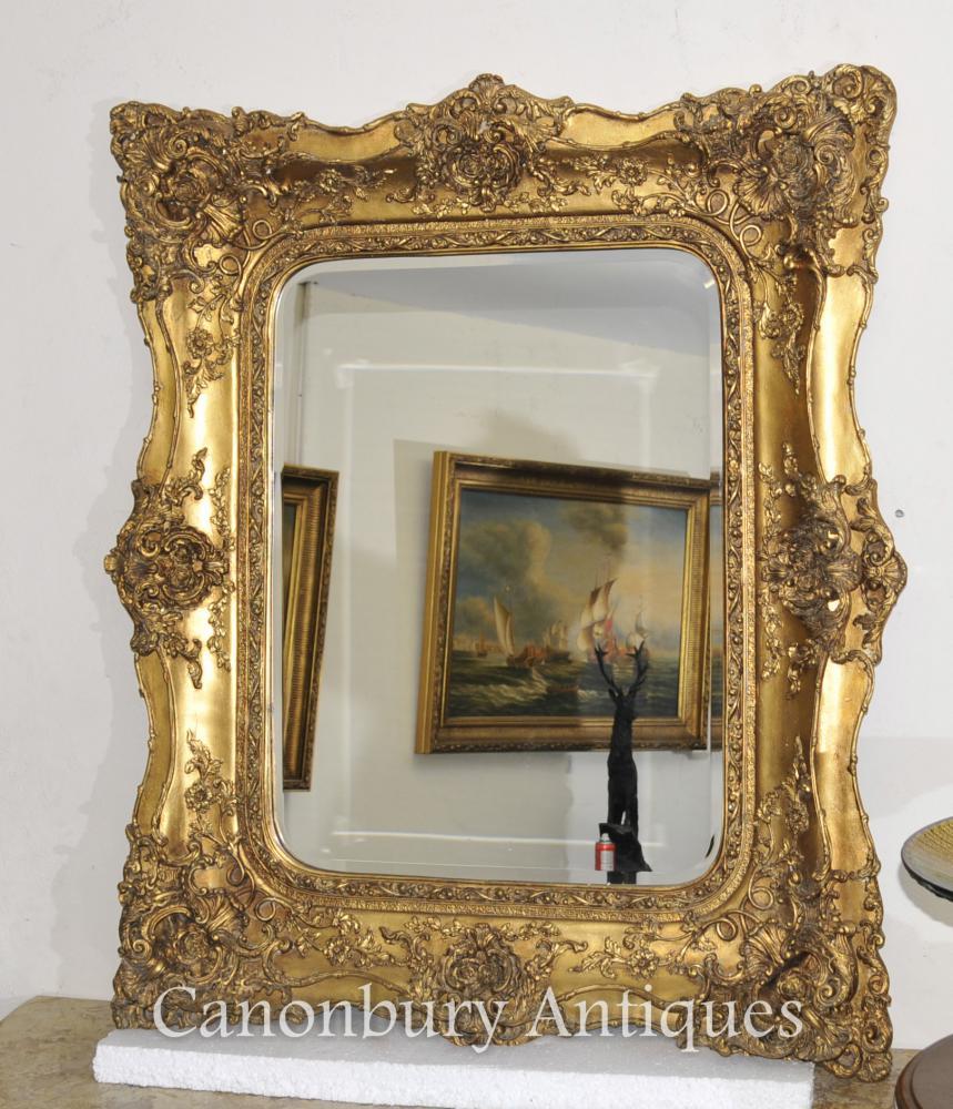 Viktorianischer Gilt-Mantel-Spiegel-Hall-Spiegel-Glasrahmen