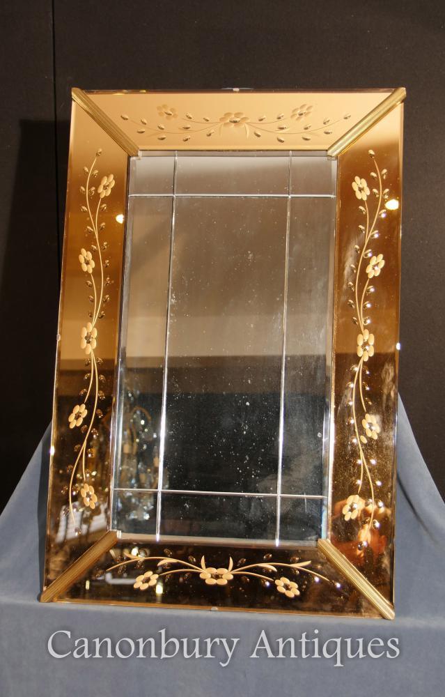 antike art deko ge tzte glas pier spiegel mantel spiegel. Black Bedroom Furniture Sets. Home Design Ideas