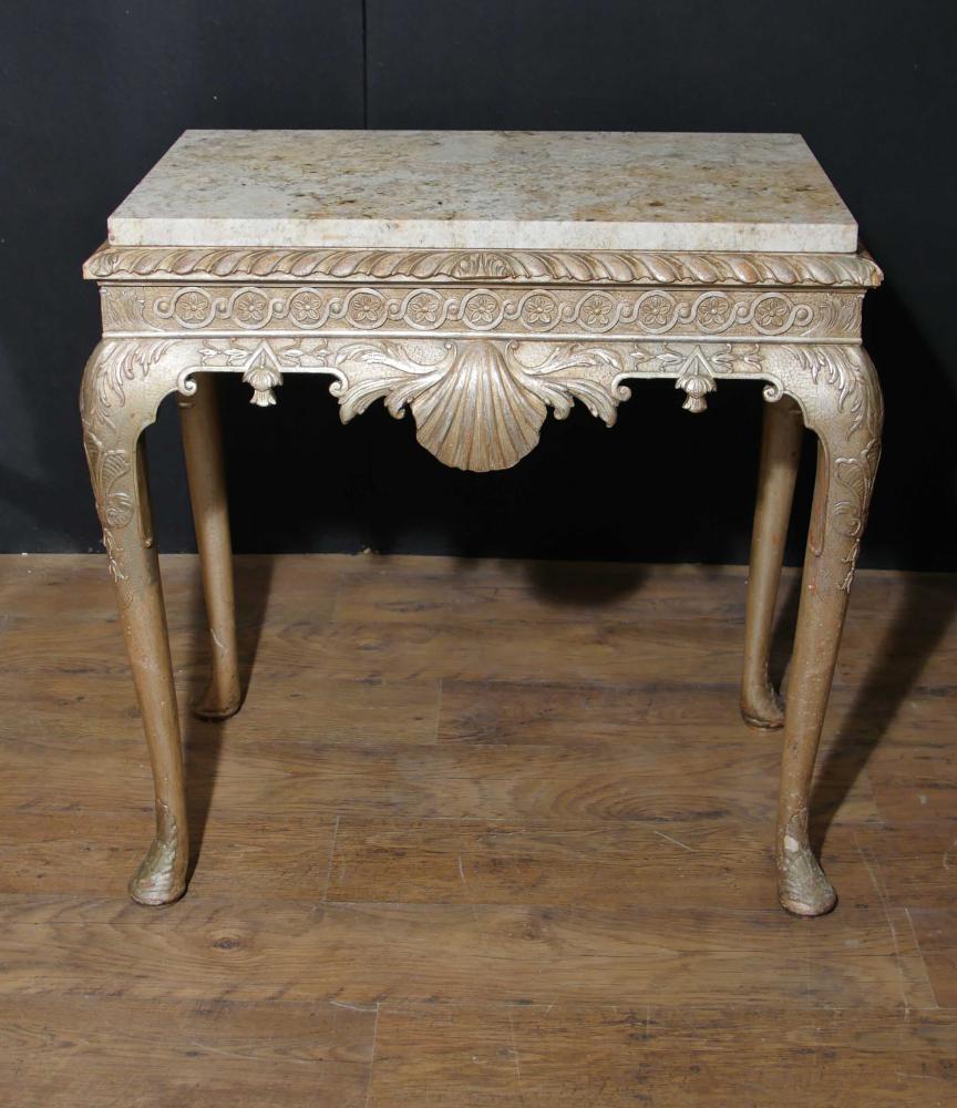 Antike George I Konsolentisch Silber Gilt Englische Möbel