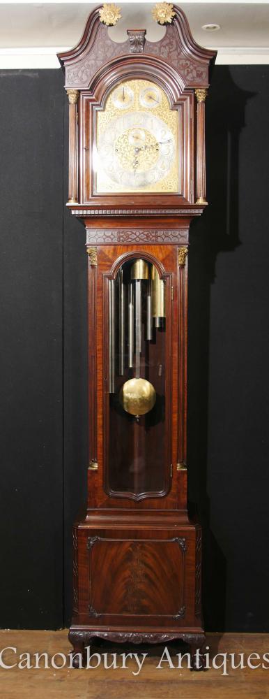 Antike englische Großvater-Uhr Mahagoni musikalische Bewegung Bäcker von Bath
