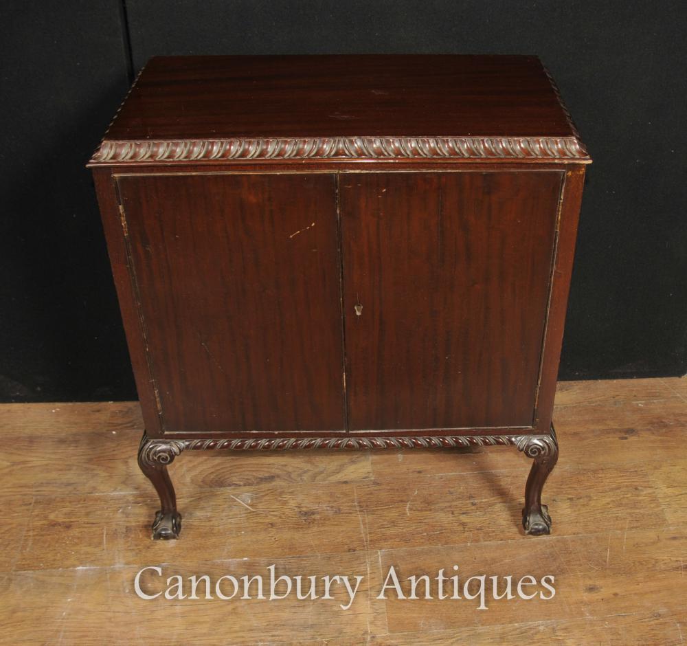 antikes viktorianisches mahagoni kasten kabinett torte kruste. Black Bedroom Furniture Sets. Home Design Ideas