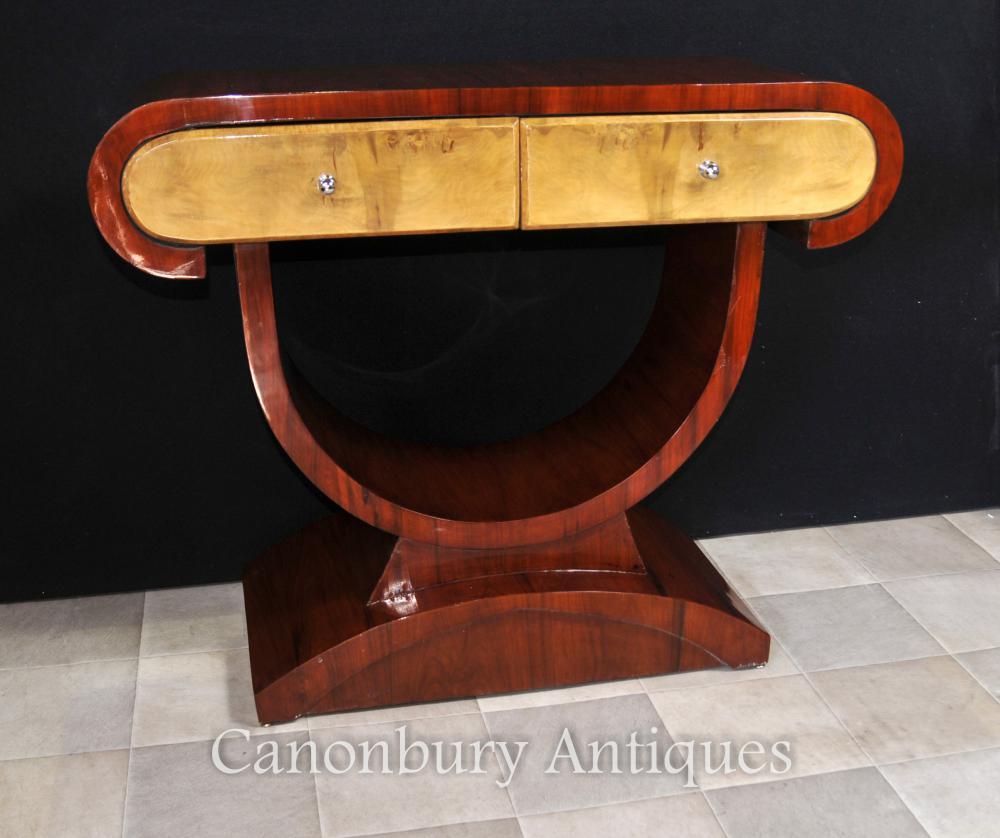 Art Deco Dressing Konsolentisch Nussbaum 1920er Möbel