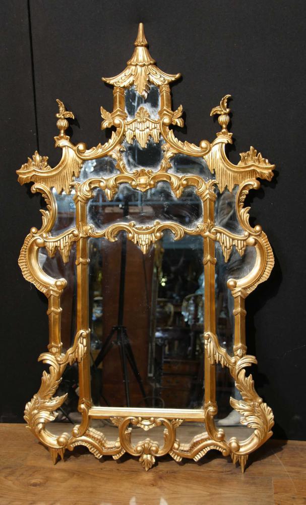 Chinesisch Chippendale Giltwood Mirror Englisch Interiors