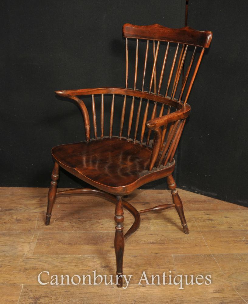 Einzelne antike Eiche Windsor Arm Stuhl