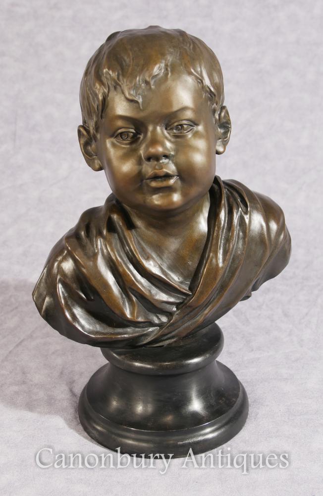 Klassisches französisches Bronzejungen-Fehlschlag-Guß-Kind