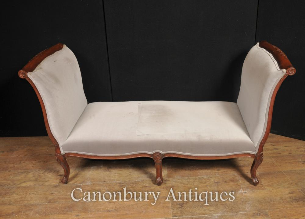 Regency Couch Tagesbett Mahagoni Chaiselongue