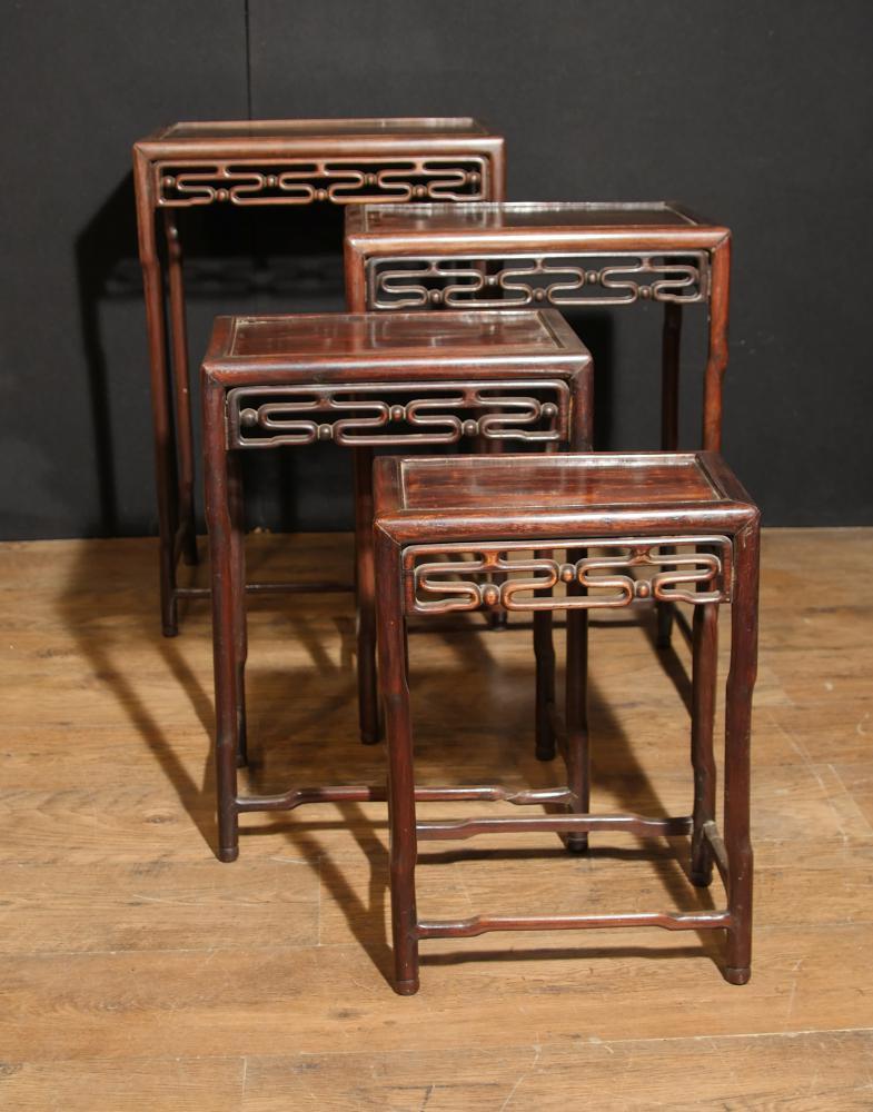 Set 4 chinesischen antiken harten Holz Nest Tische Beistelltisch