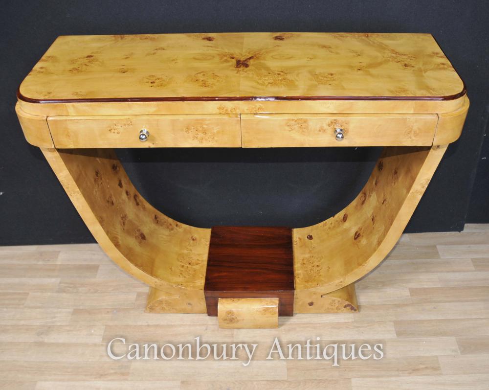 Art Deco Tisch Blonde Ogee Walnut Tische Interiors