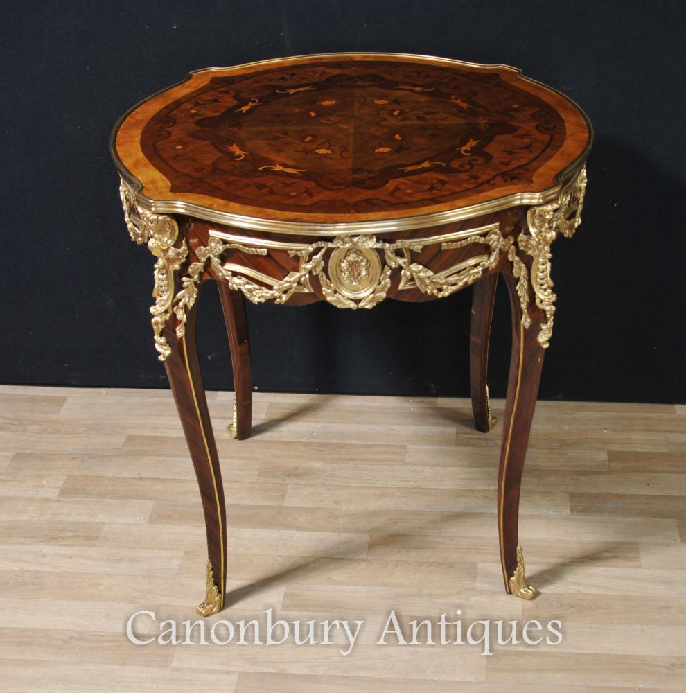 Französische Louis XVI runde Mitte-Tabellen-Mitte-Beistelltische