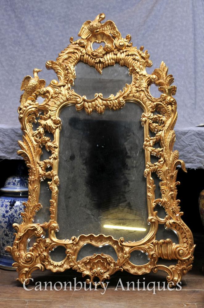 Vergoldeter geschnitzter Chippendale Pier Spiegelglas Spiegel Englisch