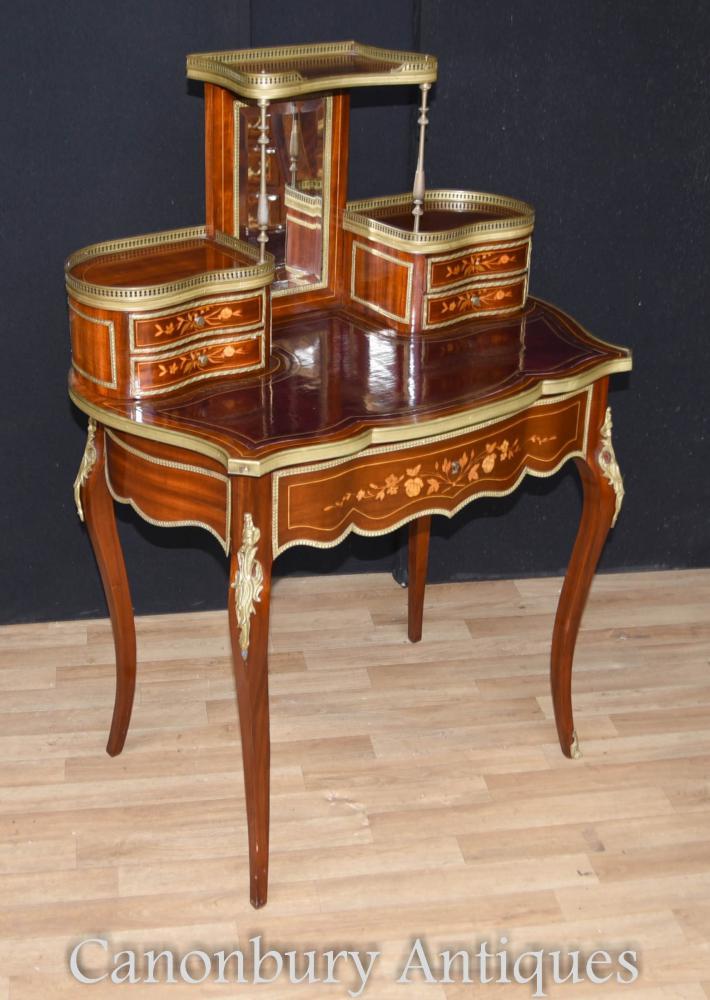 Antique Empire Bureau De Dame Damen Schreibtisch Schreibtisch Tabelle 1880