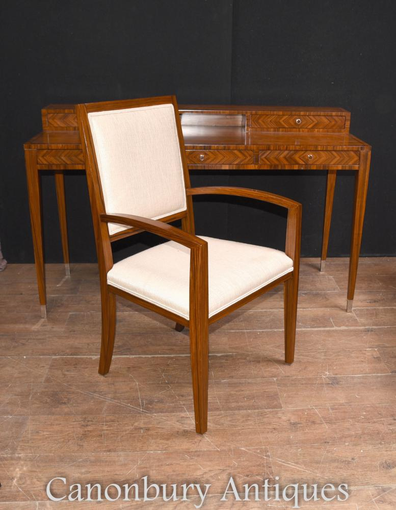 Art Deco Schreibtisch und Stuhl Set Rosewood Home Office Schreibtisch