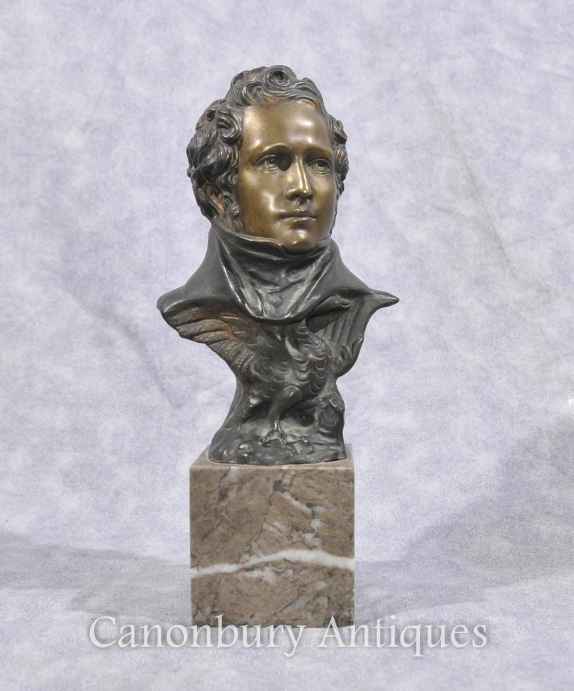 Bronze Bust Englisch Duke of Wellington Waterloo Britisches Militär