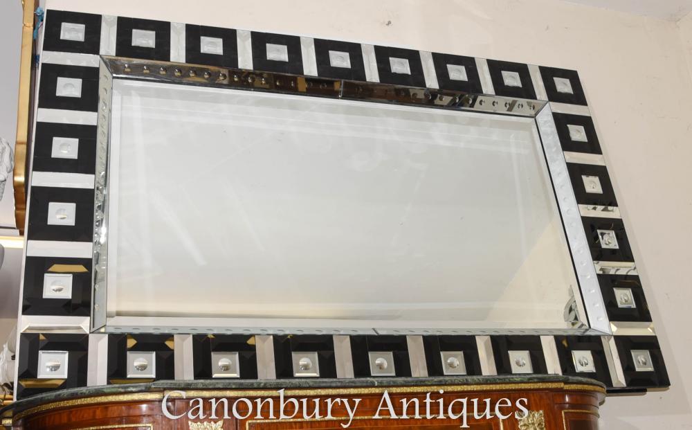 Art Deco Glas Pier Spiegel Interiors Glas
