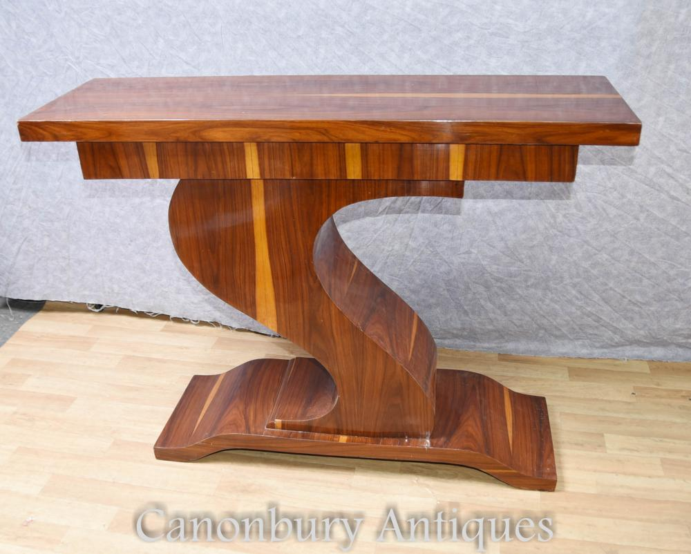 Art Deco Z Form Konsole Tisch Hall Tische Interiors