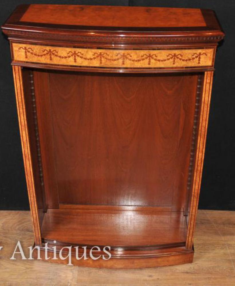 single regency open front b cherregal in satinwood. Black Bedroom Furniture Sets. Home Design Ideas