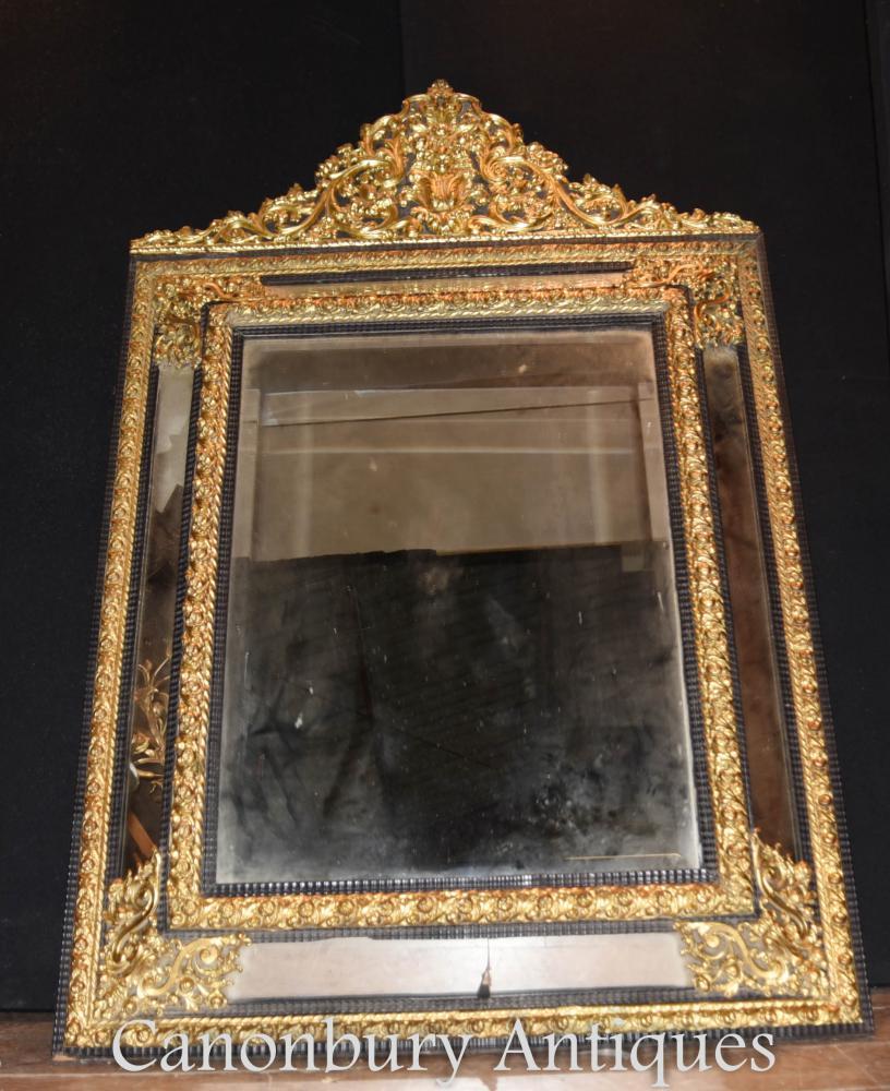 Antike französische Rokoko Kissen Spiegel Gilt Pier Spiegel 1880