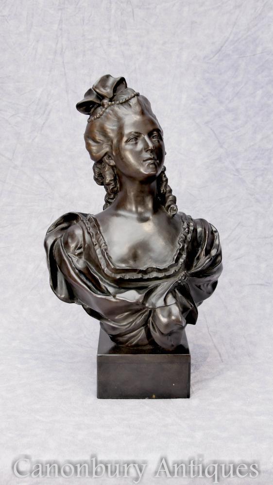 Französische Bronze Büste Marie Antoinette Casting Statue Königin von Frankreich